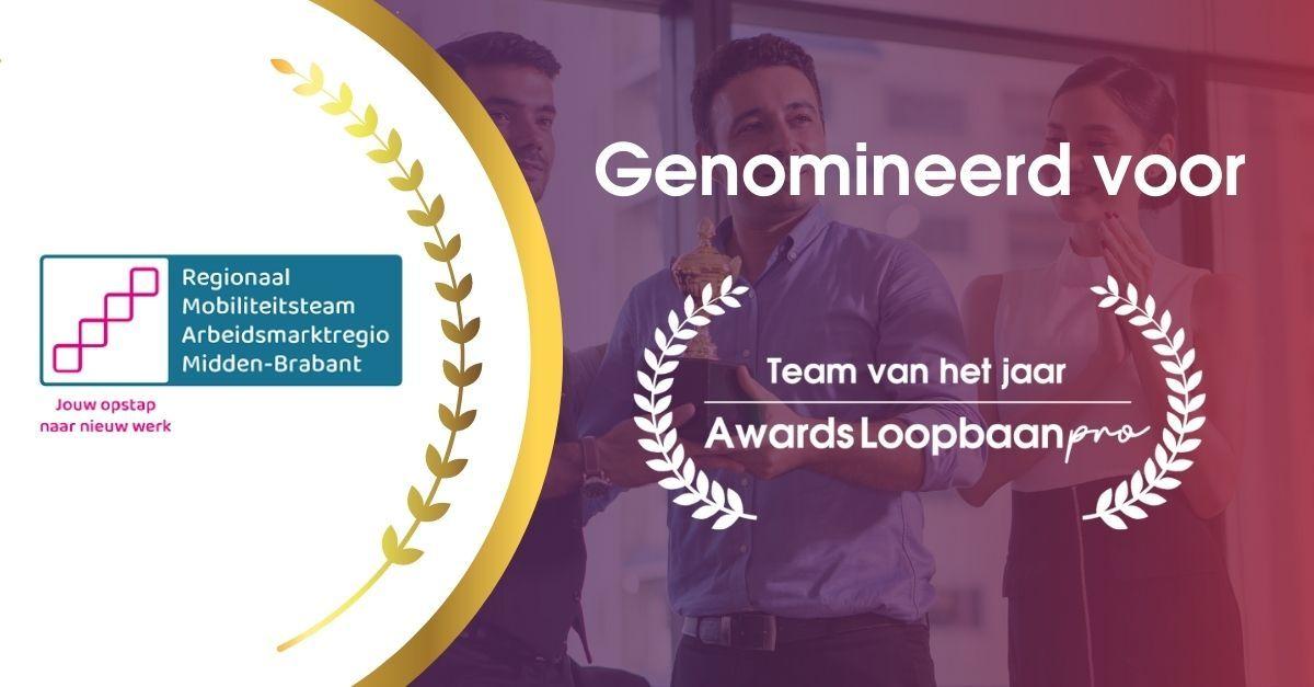 RMT Midden-Brabant is genomineerd voor Loopbaan team van het jaar 2021